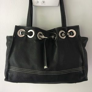 NORDSTROM Black Genuine Leather Tote Handbag